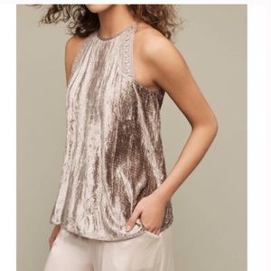 SOLD•Anthropologie• Blank London Velvet Swing Tank